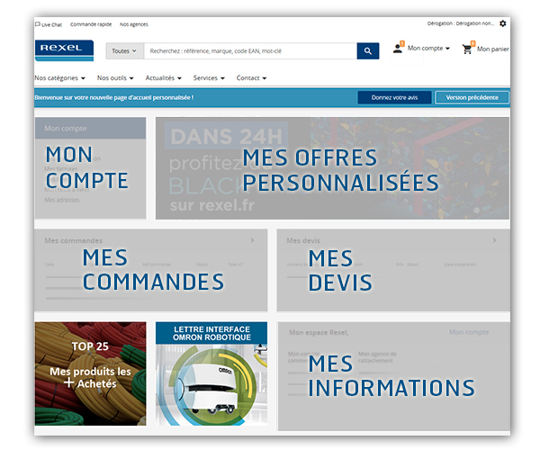 Nouvelle homepage